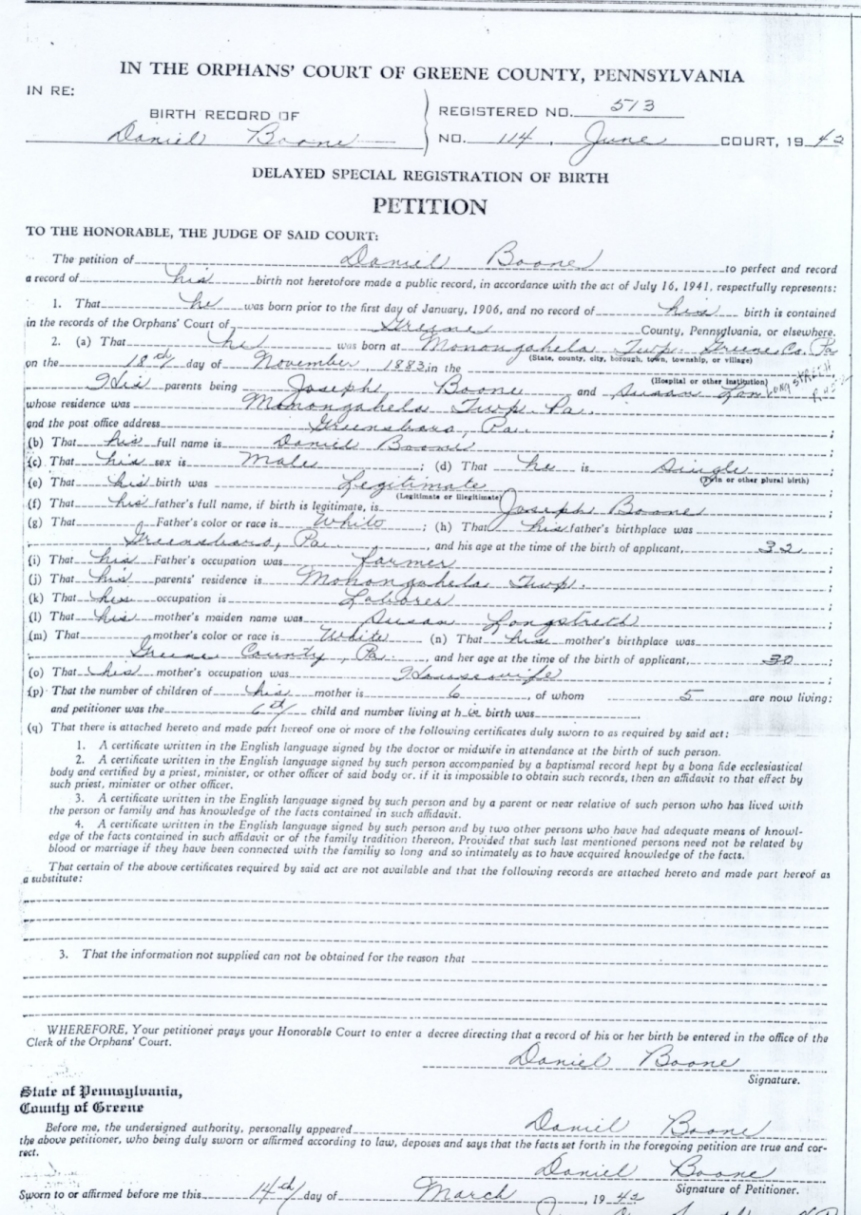Birth Certificates Registrations
