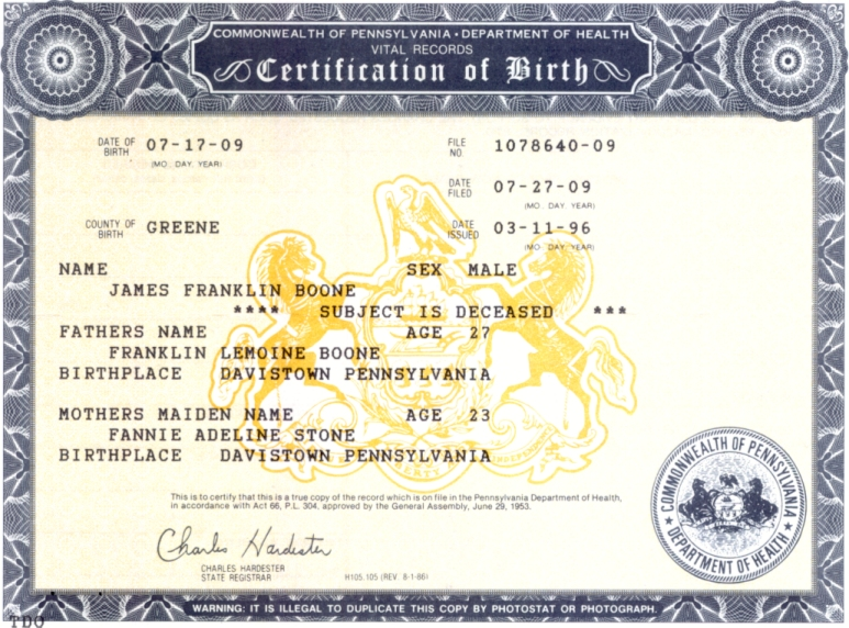 birth certificates & registrations